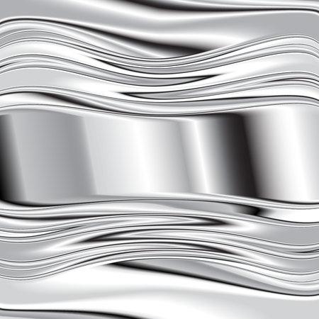brushed aluminum: grey background vector overlap dimension 3d graphic metal color  Vector 10 Illustration