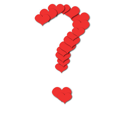questionmark: vector symbol of question mark made of heard