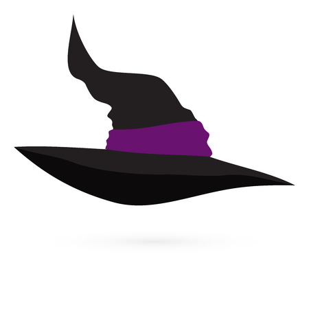 witchery: Witchs hat on white background, vector 1