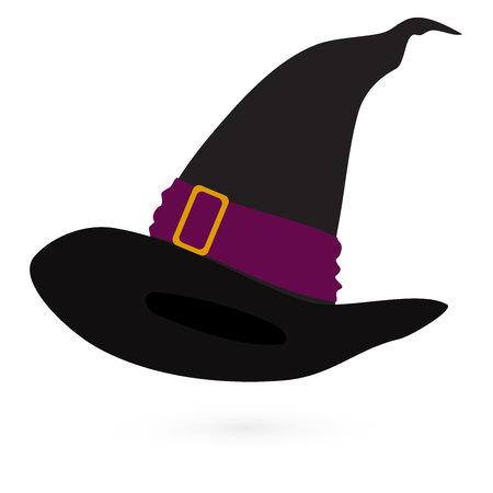 creeps: Witchs hat on white background, vector 2 Illustration