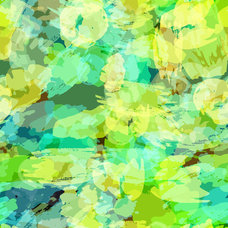 sloppy: Seamless pattern with watercolor imprint of thread coil. Sloppy strokes of a paint. 3