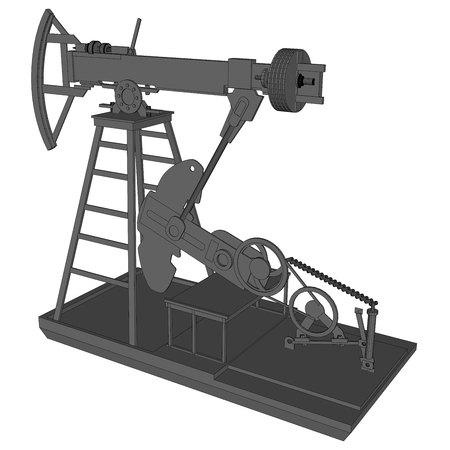 oil pumps in 3d vector illustration image 1
