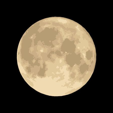 mond: Mond auf schwarzem Hintergrund Vector. Raum-Bild