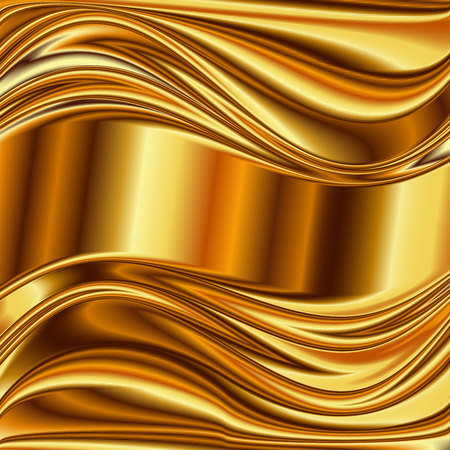 polished: Metal background, gold brushed metallic texture plate.