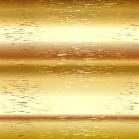 aluminum foil: Golden background Vector metal scratch texture 2
