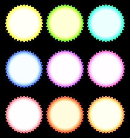 secondary colors: Color wheels. Vector illustration image on black 3 Illustration