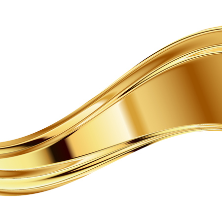 Vector abstract gold background clip-art on white 7