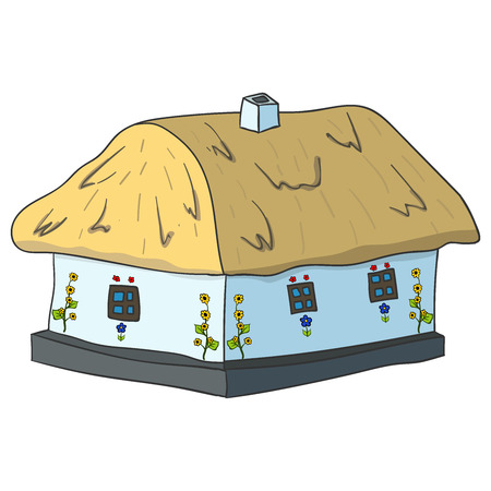 cute house: Home sweet home card with cute house