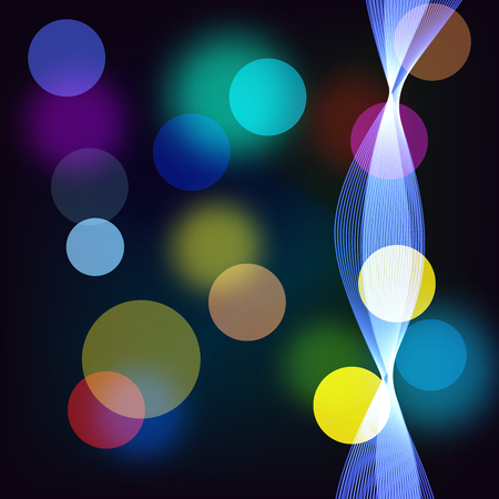 radiance: Beautiful abstract background with gradient and radiance. Vector illustration. Color boke and blue wave