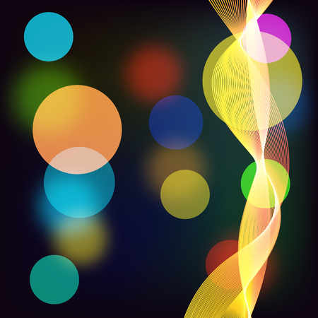 radiance: Beautiful abstract background with gradient and radiance. Vector illustration. Color boke and yellow wave 1 Illustration