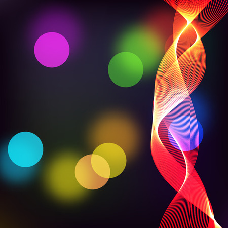 radiance: Beautiful abstract background with gradient and radiance. Vector illustration. Color boke and red wave 1 Illustration