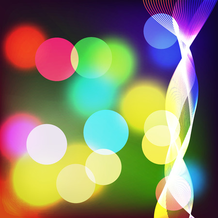 radiance: Beautiful abstract background with gradient and radiance. Vector illustration. Color blurred boke and wave 1 Illustration