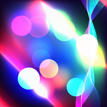 radiance: Beautiful abstract background with gradient and radiance. Vector illustration. Color boke and blurred background