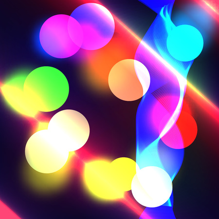 radiance: Beautiful abstract background with gradient and radiance. Vector illustration. Color boke and wave 3