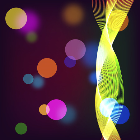 radiance: Beautiful abstract background with gradient and radiance. Vector illustration. Color boke and yellow wave Illustration