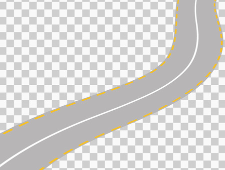 bitumen: Curved road with white markings. Vector illustration 5 Illustration