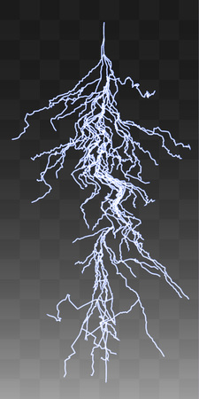 thunderbolt: Vector realistic lightnings thunderbolt on transparent background. 1