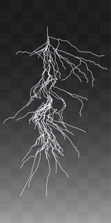 thunderbolt: Vector realistic lightnings thunderbolt on transparent background. 2 Illustration