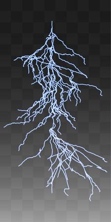 thunderbolt: Vector realistic lightnings thunderbolt on transparent background. 6