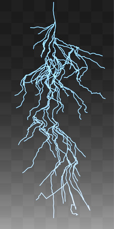 thunderbolt: Vector realistic lightnings thunderbolt on transparent background. 7