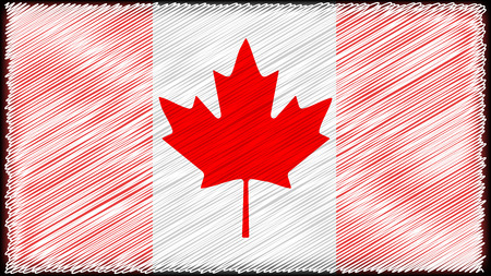 mage: vector  High detailed flag of Canada red white mage Illustration