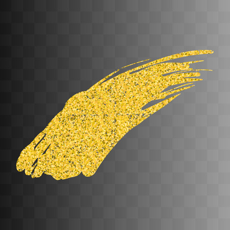 gold textured background: Vector gold paint smear stroke stain. Abstract gold glittering textured art illustration. Abstract gold glittering textured art illustration. On a transparent background 6
