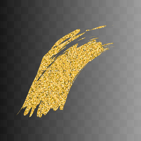 gold textured background: Vector gold paint smear stroke stain. Abstract gold glittering textured art illustration. Abstract gold glittering textured art illustration. On a transparent background 7