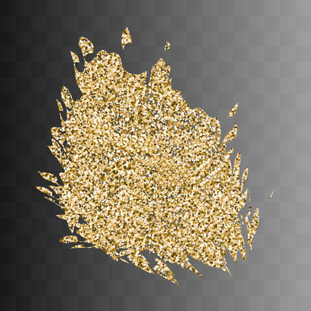 gold textured background: Vector gold paint smear stroke stain. Abstract gold glittering textured art illustration. Abstract gold glittering textured art illustration. On a transparent background 2 Illustration
