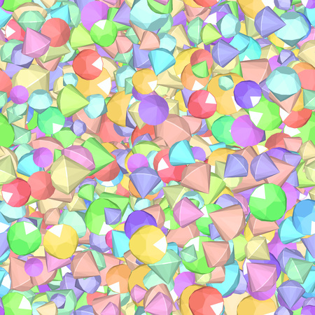 dearly: Vector Pattern with color beads and crystals  Color diamonds 1