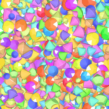 dearly: Vector Pattern with color beads and crystals  Color diamonds 3 Illustration
