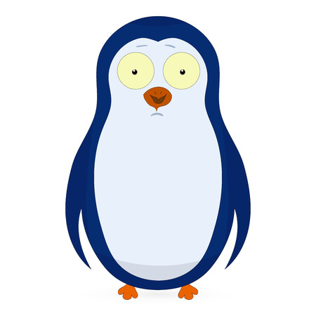 pinguin: Vector abstract cute pinguin on a white background