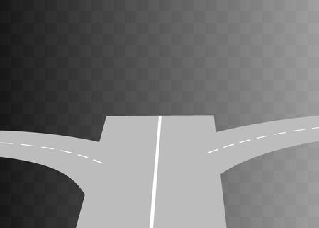 curved road: Vector  Curved road with white markings on transparent. illustration 7 Illustration