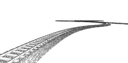 railroad track: Vector Railroad track silhouettes. Railway tracks cartoon vector illustration. 9