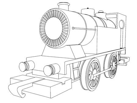 intercity: Vector retro train vintage  symbol emblem label template 5 Illustration