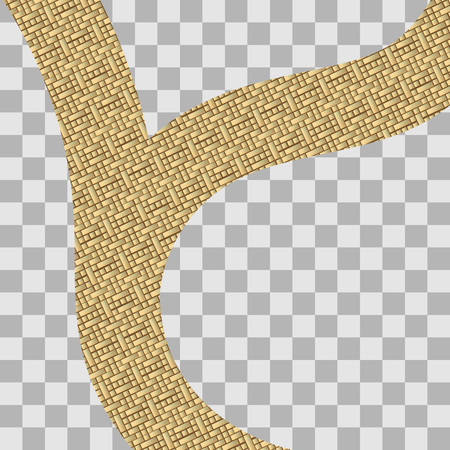 gold road: illustration of road made of gold coin on transparency background