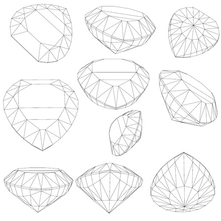 marquise: set of diamond design elements