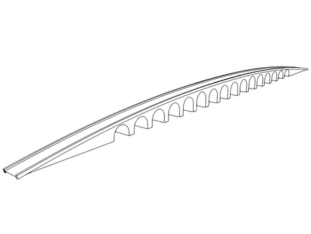 balustrade: Vector illustration of isolated cartoon bridge on white background 11 Illustration