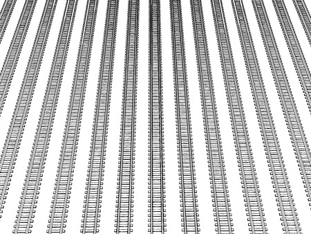 siding: Railway vector illustration on white background 4