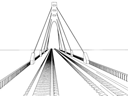 Railway vector illustration on white background 7 Vettoriali