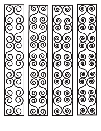 capillaries: Vector Irregular abstract grid pattern. background 2 Illustration