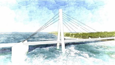 bridge hand: Vector Bridge hand drawn, vector illustration 3 Illustration