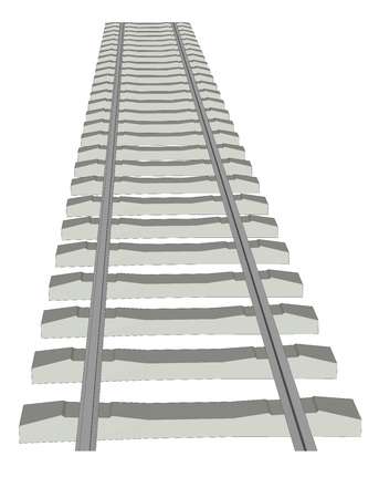 locomotion: RAILWAY TRACK on white background