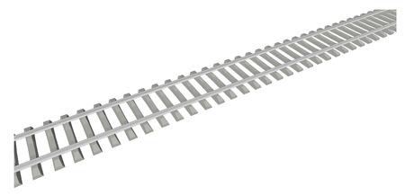 railway track: RAILWAY TRACK on white background