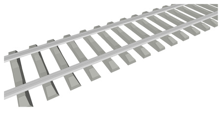 railway track: RAILWAY TRACK on white background