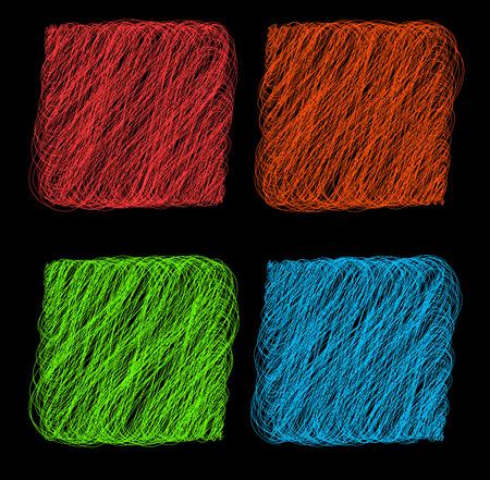 single coil: Vector color Rope hank on black background 1 Illustration