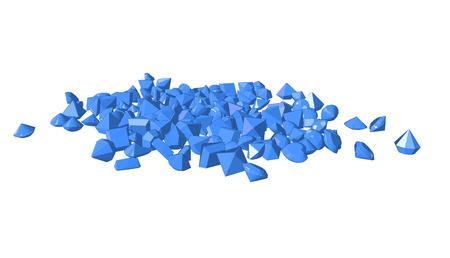 asscher: Vector imageblack blue. Gems on white background. Illustration