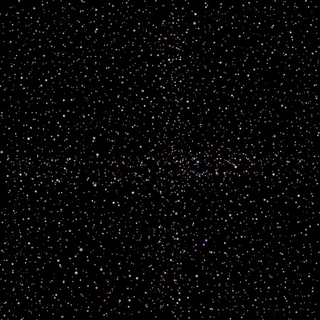 galaxies: seamless vector Realistic image of the night sky with stars and galaxies.