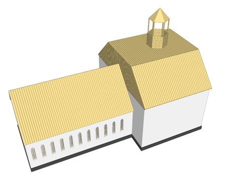 pews: Vector building 3d Church  on white background icon art. 5
