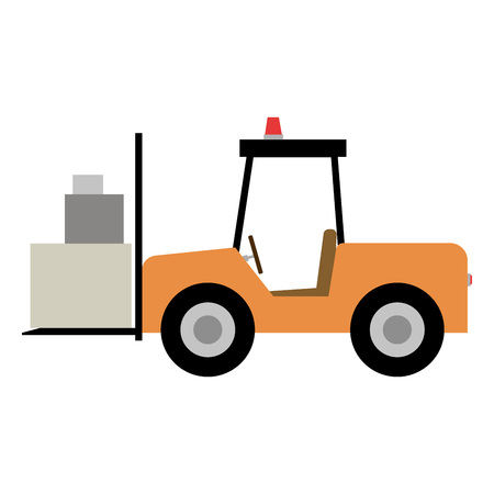 front loader: Stand alone Icon in flat style front box loader