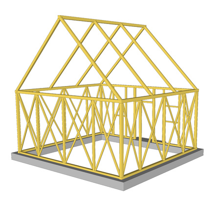 rafter: Vector Structure of house in construction. Illustration 1 Illustration